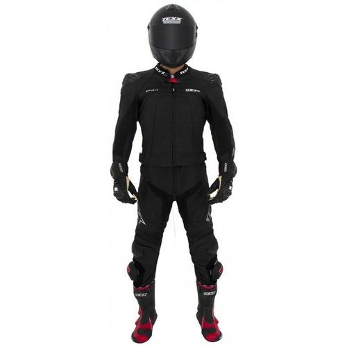 macacão couro motociclista esportivo texx spirit
