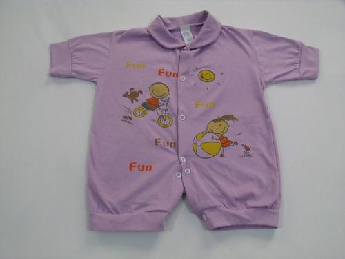 macacão curto p/ bebê meia malha # promoção do mês