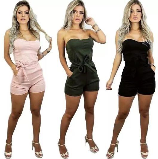 96c679bd3 Macacão Curto Tomara Que Caia Feminino Modelo 2018 2019 - R$ 35,99 ...