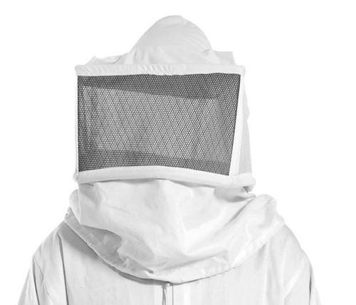 macacão de apicultor - brim e máscara em courvin - roupa