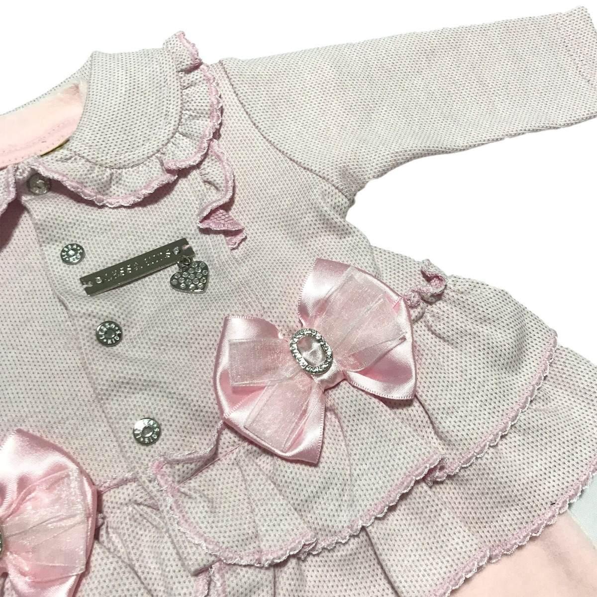 Macacão De Bebê Com Casaco Rosa - R  119 22330fdcadb