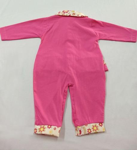 macacão de malha 217 pink nana nenêm - rn