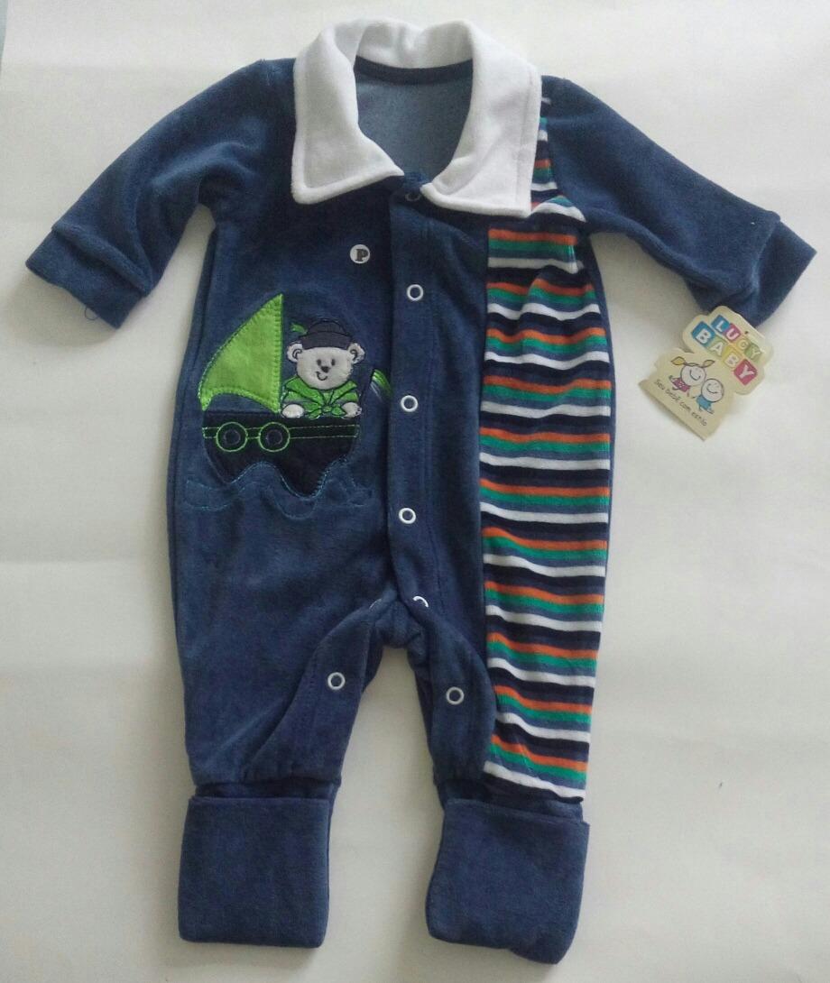 14e683d33b10a Macacão De Plush Para Bebês Pezinho Flexível Com sem - R  42
