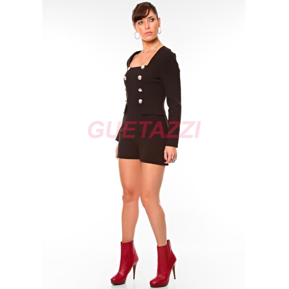 327dd9adc Macacão Feminino Curto Alfaiataria Em Crepe Importado - R$ 239,99 em ...