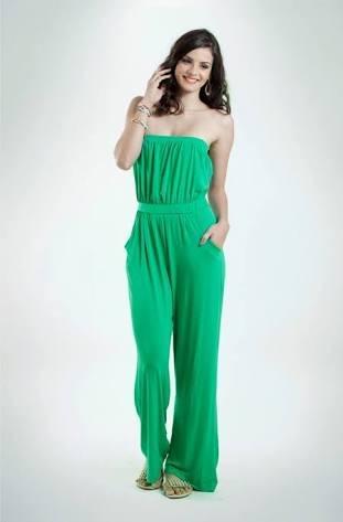 5d1507b6f Macacão Feminino Da Mercatto Viscose Liso Verde Ou Preto - R  39