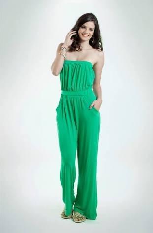 b873e95ff Macacão Feminino Da Mercatto Viscose Liso Verde Ou Preto - R$ 39,99 ...