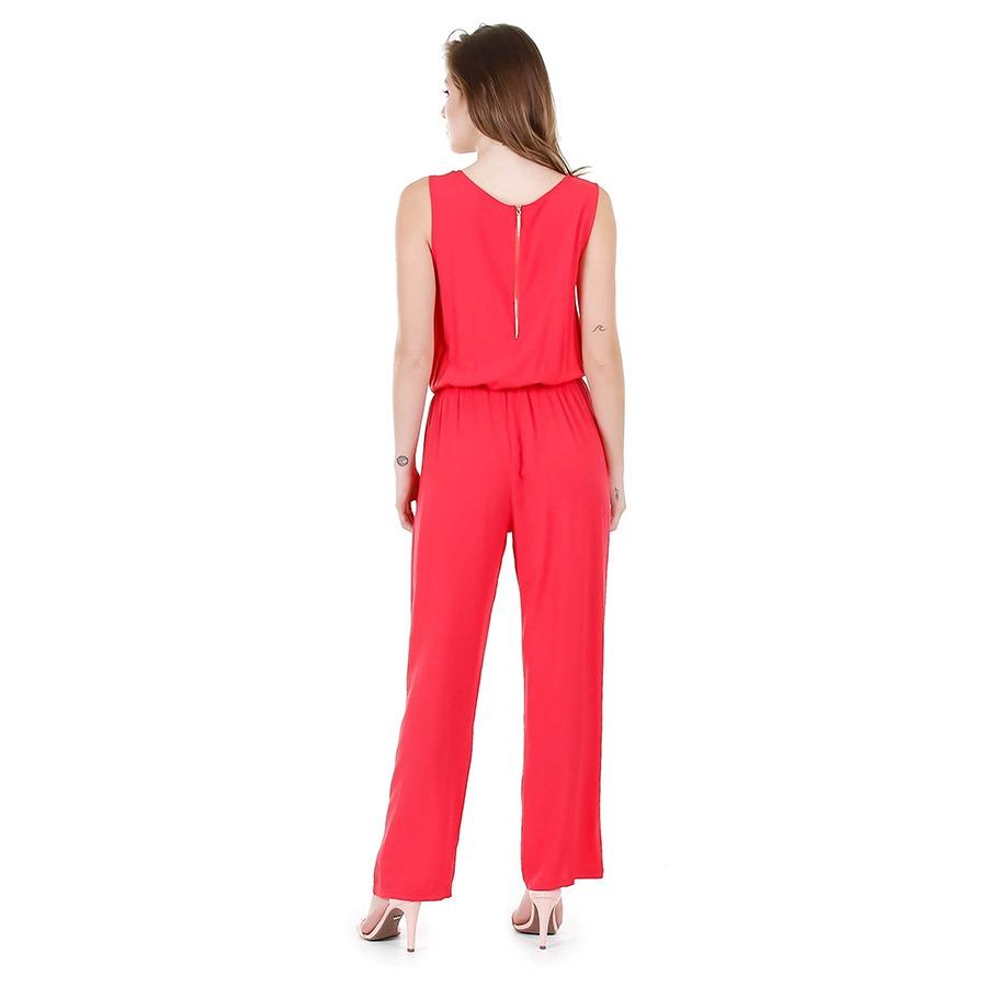 6746b1664 Macacão Feminino Facinelli - Vermelho - R$ 69,99 em Mercado Livre