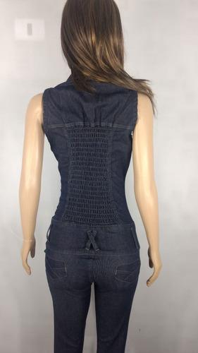 macacão feminino jeans azul estilo