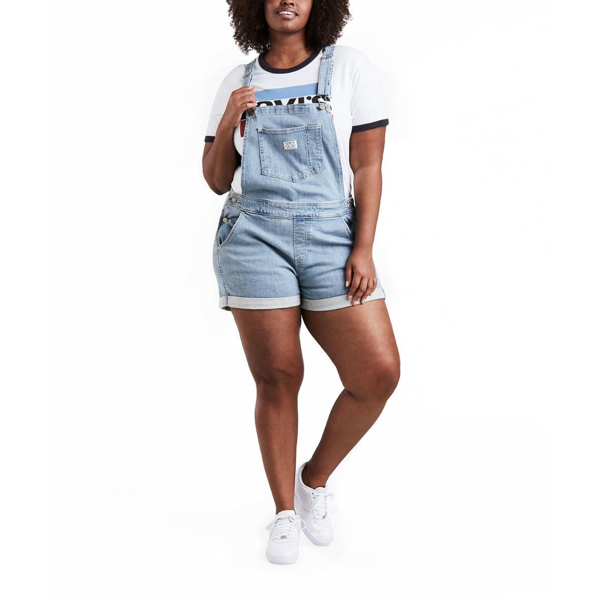 macacão feminino jeans levis short all plus size. Carregando zoom. 99493cd5d85