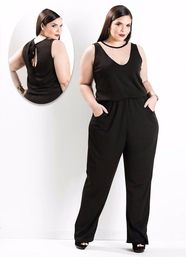 4e88a47b69cb macacão feminino longo plus size lindo social roupa gordinha. Carregando  zoom.
