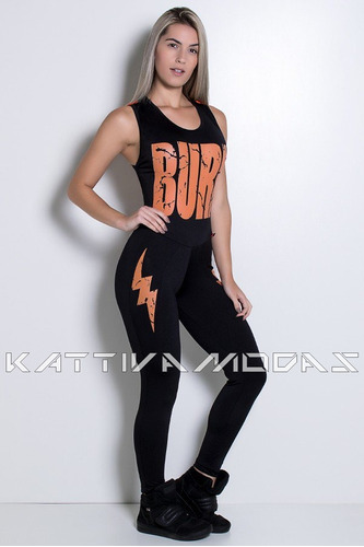 macacão fitness longo roupas de ginástica academia malhar