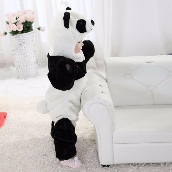 ba4e30bff7fb99 Macacão Infantil Panda Bichinho Estilo Parmalat Quente