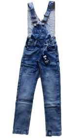 f919ff1eadc9f2 Macacão Jardineira Jeans Infantil Menino