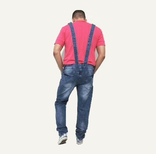 Macac o jardineira masculina cal a jeans c suspens rio 44 for Jardineira masculina c a