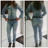 e32fecd00 Macacão Jeans - R  239