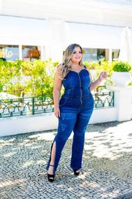 9ccab8ebe Macacao Jeans De Ziper Plus Size - Calçados, Roupas e Bolsas no ...