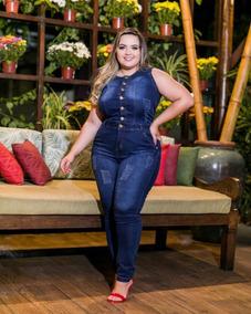 7fa71ea6d Macacao E Blusa Pantacourt Jeans - Calçados, Roupas e Bolsas no Mercado  Livre Brasil