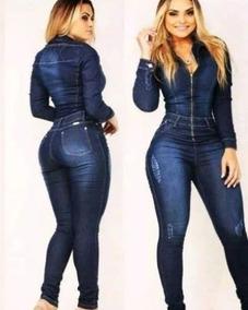 3eebafed1 Lindo Macacão Jeans Com Ziper - Macacão para Feminino no Mercado ...