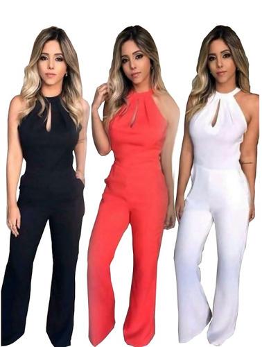macacão longo feminino gota blogueira moda