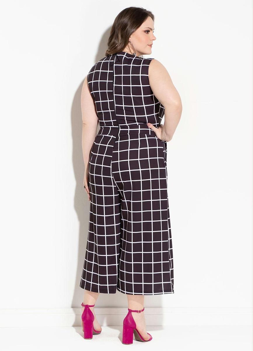 f106b335f78 macacão longo feminino pantacourt xadrez plus size promoção. Carregando  zoom.