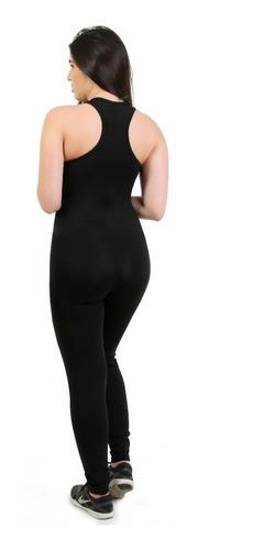 macacão longo fitness feminino legging academia c/ bojo 9633