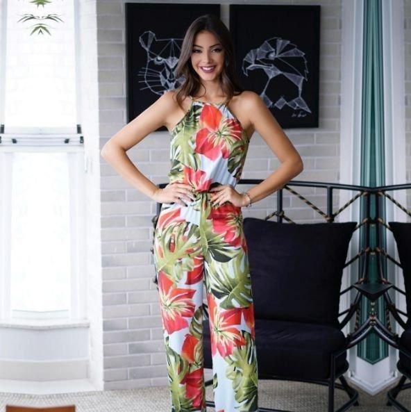 Macacão Longo Floral Feminino Marca Papaya Original - R  239,90 em ... 2287326531