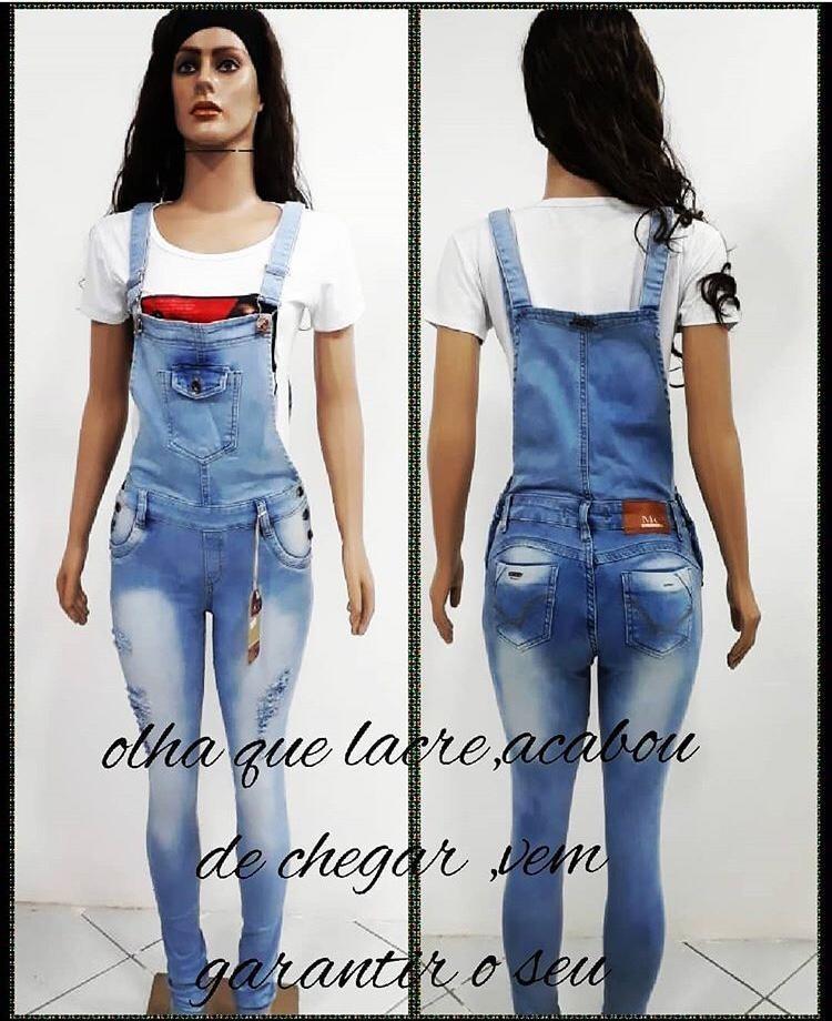 fe87df6c983b96 Energian Saasto—These Macacao Jeans Feminino Longo Mercado Livre
