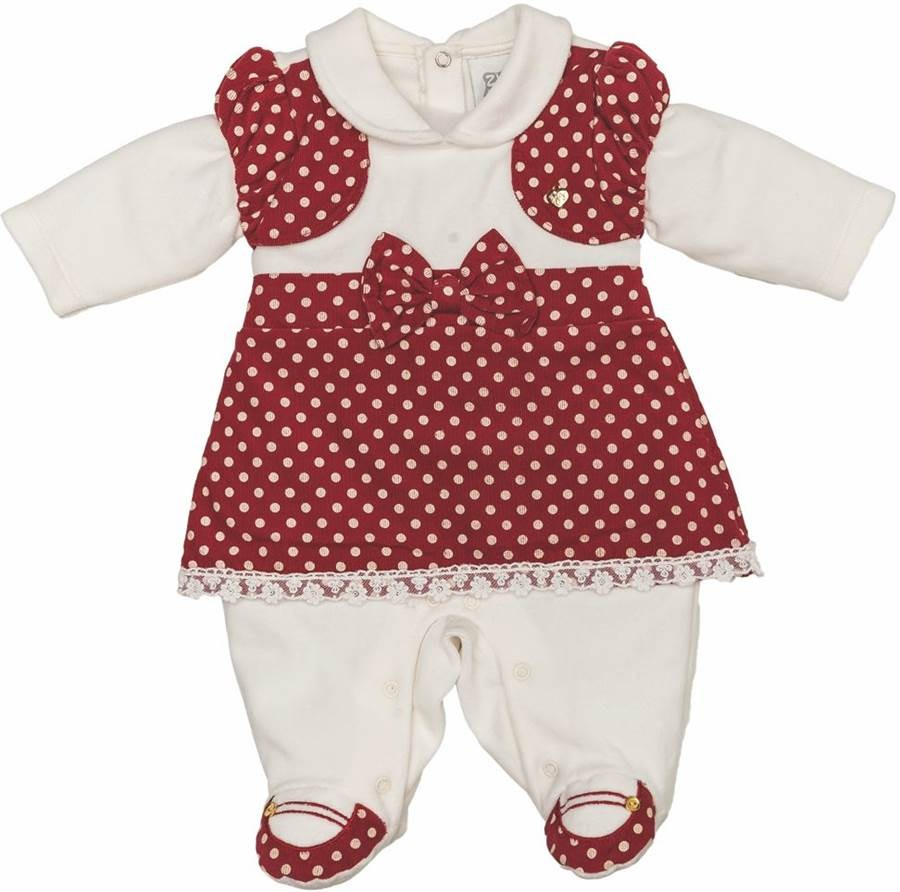 565db144d0b4f Macacão Longo Para Bebê Menina Em Plush Tourist - Zig Mundi - R  95 ...