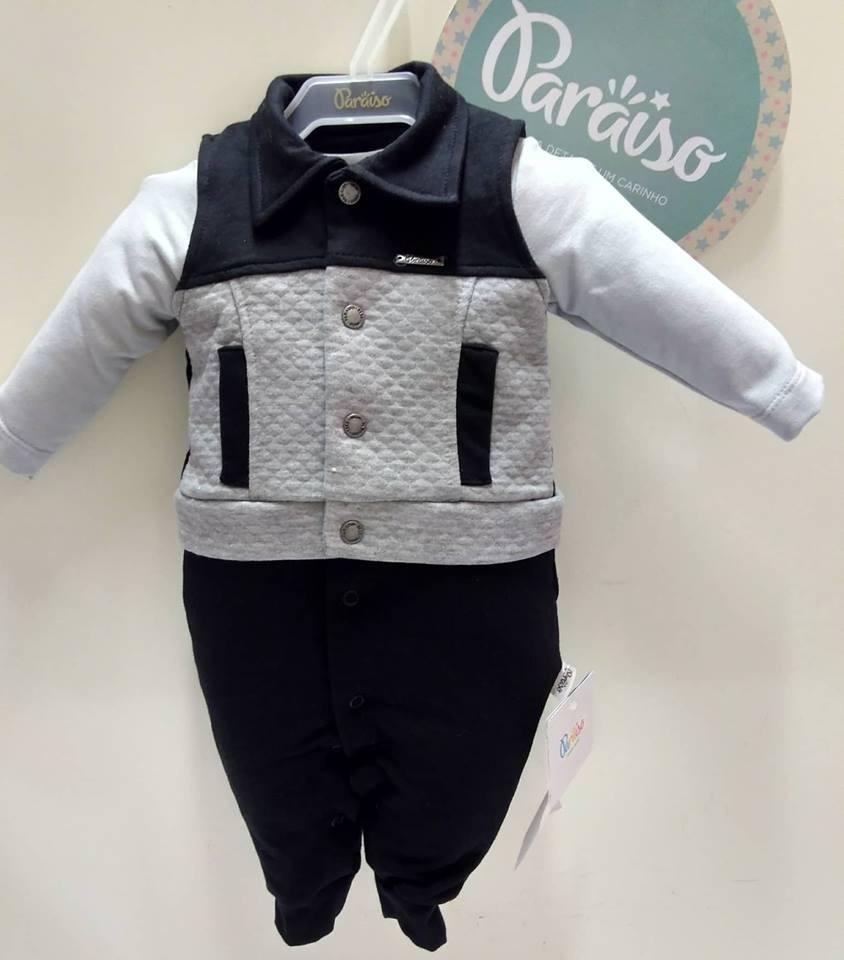 616fb6ab8 macacão longo paraiso moda bebe menino + colete luxo rf 7909. Carregando  zoom.