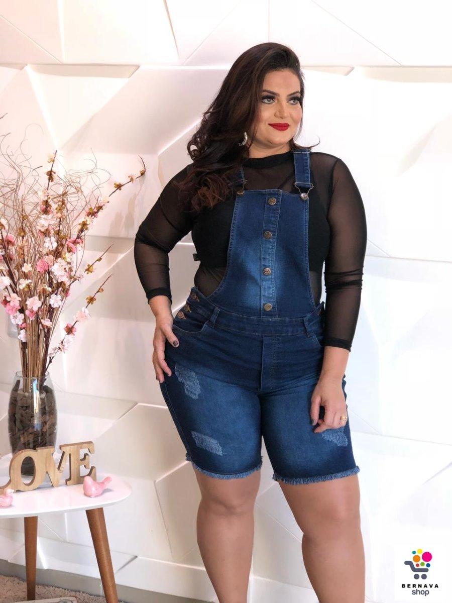 e57efbbe2 macacão macaquinho jeans feminino modal plus size grande. Carregando zoom.