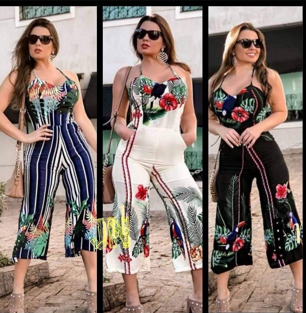 20a790037 macacão macaquinho pantacourt estampado feminino moda. Carregando zoom.