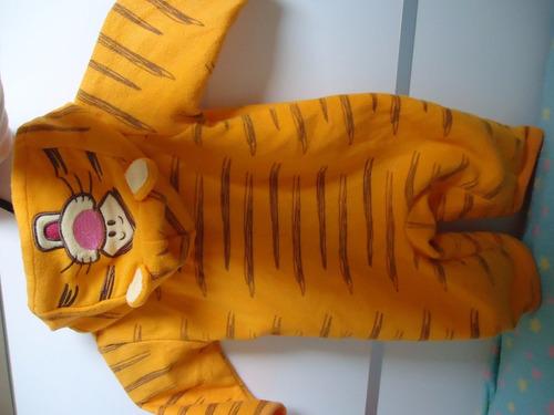 macacão manga longa tigrão pooh rn a 3 meses