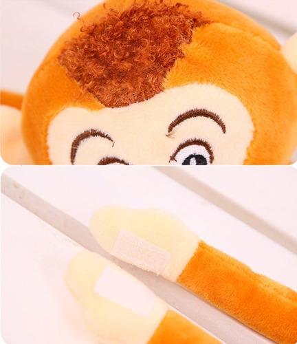 macaco marrom de pelúcia 65cm macaquinho pendurado promoção