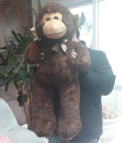 macaco marrom pelúcia gigante 80cm menor preço frete grátis