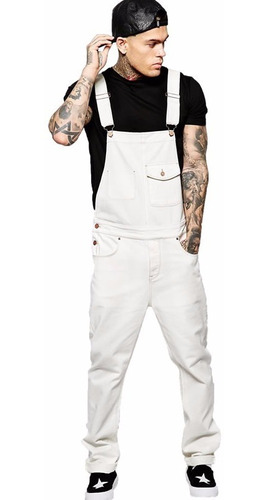 macacão masculino street style branco vcstilo