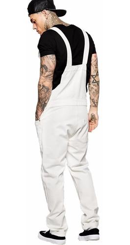macacão masculino street style m01 branco vcstilo