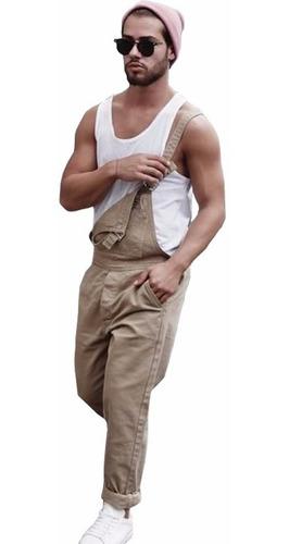 macacão masculino street style m01 kakhi vcstilo