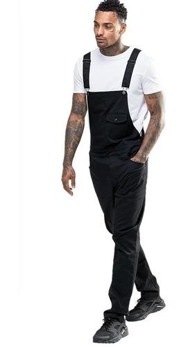 macacão masculino street style preto vcstilo
