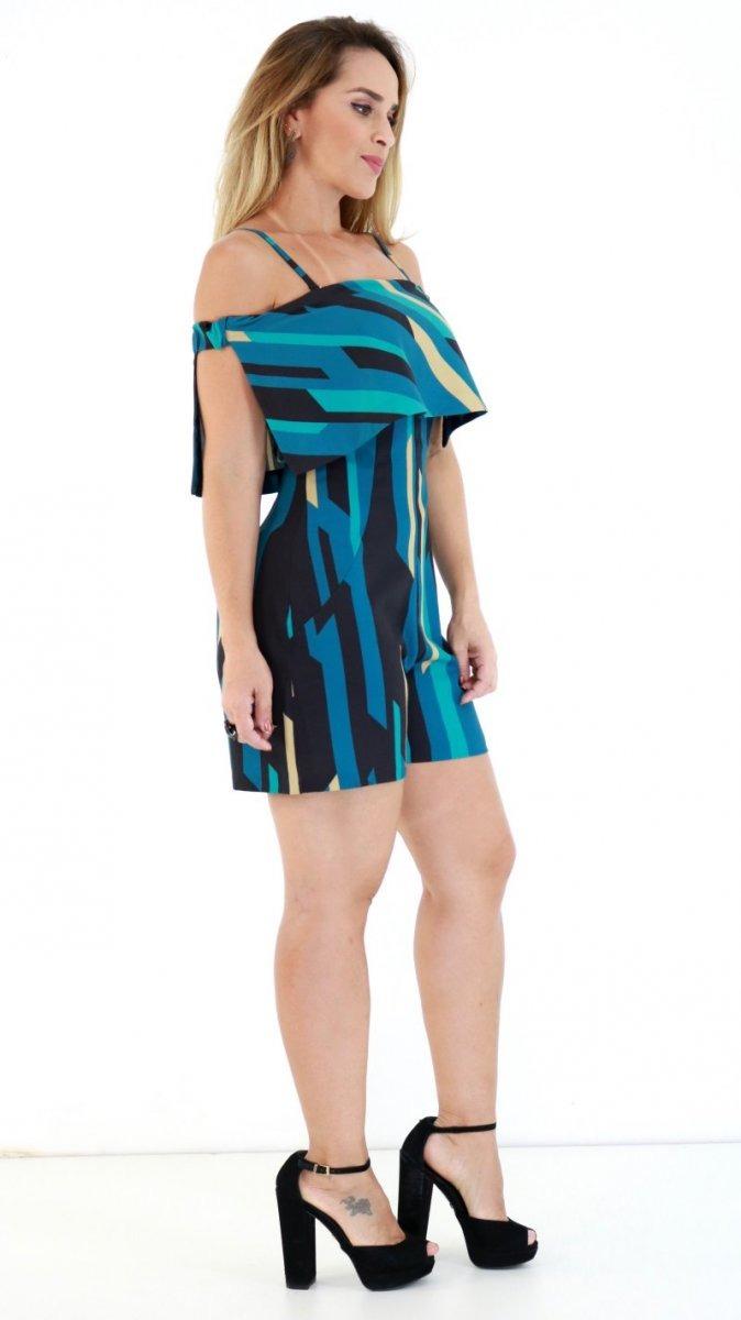 f95f6635a Macacão Morena Rosa Estampado Azul Pv19 - R$ 199,96 em Mercado Livre