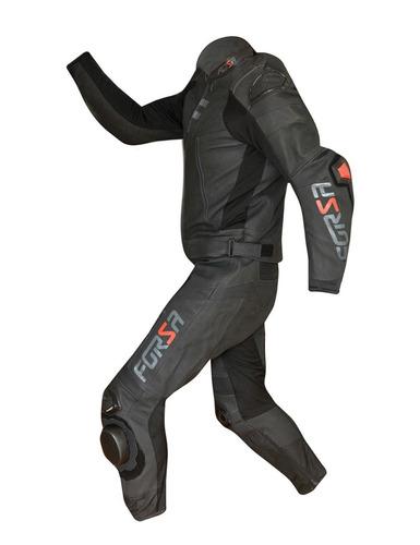 macacão moto couro forza 2pç mugello c/ cupim