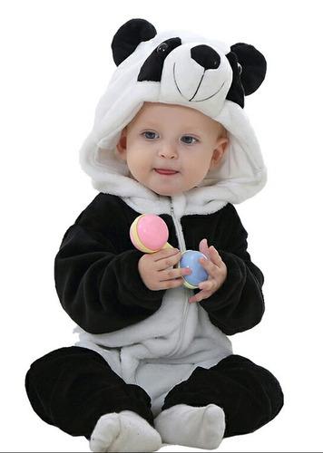 macacão pijama bebê bichinho fantasia stitch panda infantil