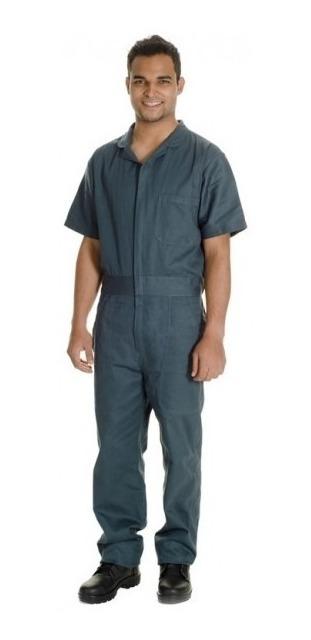 136f2a3c561 Macacão Profissional Masculino Em Brim Verde Petróleo