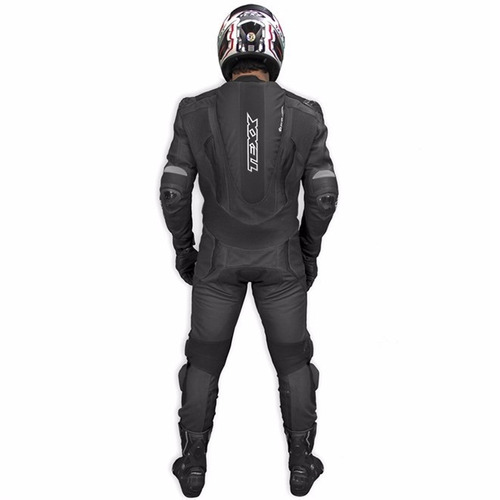macacão texx cronos couro moto 1 peça preto 2xl 56