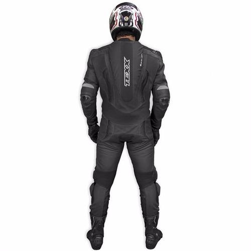 macacão texx cronos couro moto 1 peça preto 4xl 60
