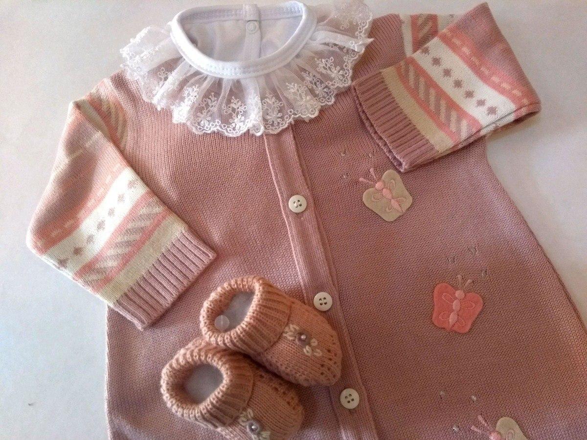 fa79e745d macacão trico linha borboletas rosa chá+ body gola renda. Carregando zoom.