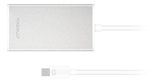 macally 3-en-1 4k mini displayport (thunderbolt 2 puertos co