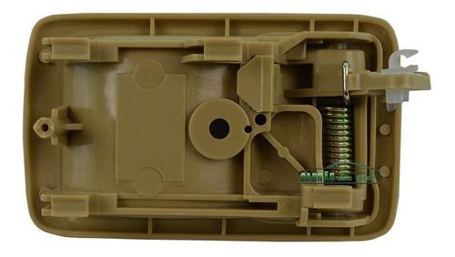 maçaneta interna porta hilux sr5 1992 a 2001 bege nova l.e