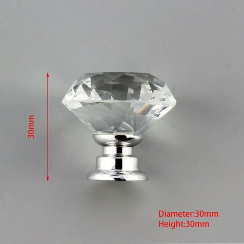 maçaneta puxador cristal gaveta porta moveis 30 mm 1 peça