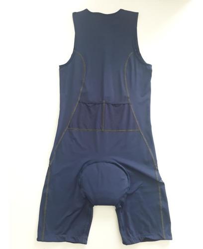 macaquinho asics de ciclismo e triathlon azul marinho