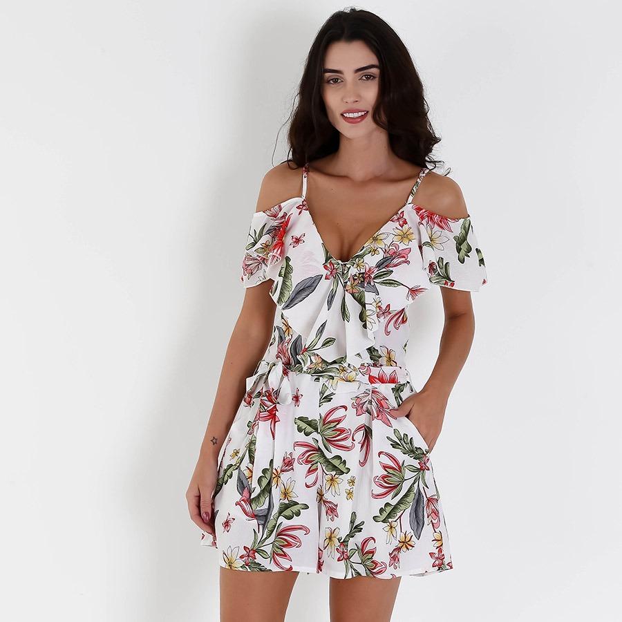 388790f56 macaquinho com babado feminino lily fashion - branco. Carregando zoom.
